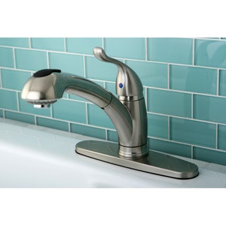 Single Lever Satin Nickel Pullout Kitchen Faucet