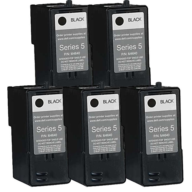 Dell M4640 (Series 5) Black High Yield Compatible Inkjet Cartridge (Pack of 5)