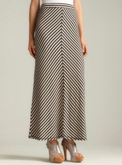 Max Studio Large Chevron Stripe Maxi Skirt