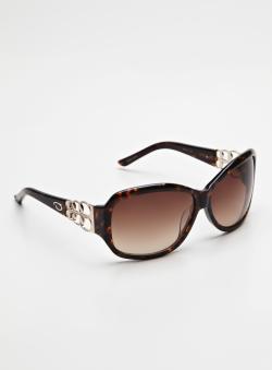 Oscar De La Renta Chain Link Henge Oval Sunglasses