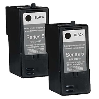 Dell M4640 (Series 5) Black High Yield Compatible Inkjet Cartridge (Pack of 2)