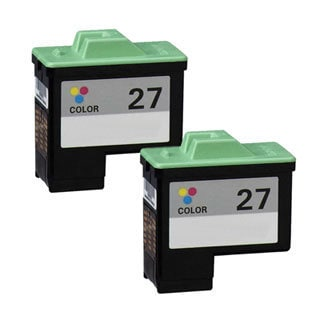 Lexmark #27 (10N0227) Color Compatible Ink Cartridge (Pack of 2)