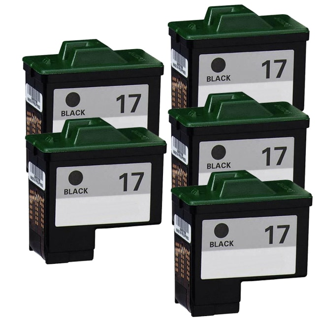 Lexmark #17 (10N0016) Black Compatible Ink Cartridge (Pack of 5)