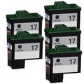 Lexmark #17 (10N0016) Black Compatible Ink Cartridge (Pack of 5)