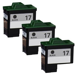 Lexmark #17 10N0017 Black Compatible Ink Cartridge (Pack of 3)