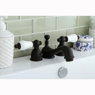 Mini-widespread Oil-rubbed Bronze Bathroom Faucet