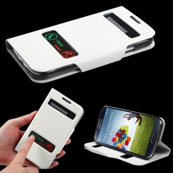 INSTEN White Wallet Phone Case Cover for Samsung Galaxy S4 i9500