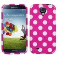 BasAcc White Polka Dots/ Hot Pink Case for Samsung Galaxy S4 i9500