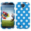BasAcc White Polka Dots/ Blue Case for Samsung Galaxy S4 i9500