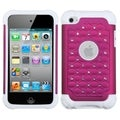 BasAcc Hot Pink/ Solid White TotalDefense Case for Apple iPod Touch 4