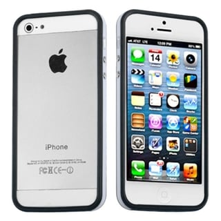 BasAcc Black/ Solid White MyBumper Phone Case for Apple iPhone 5