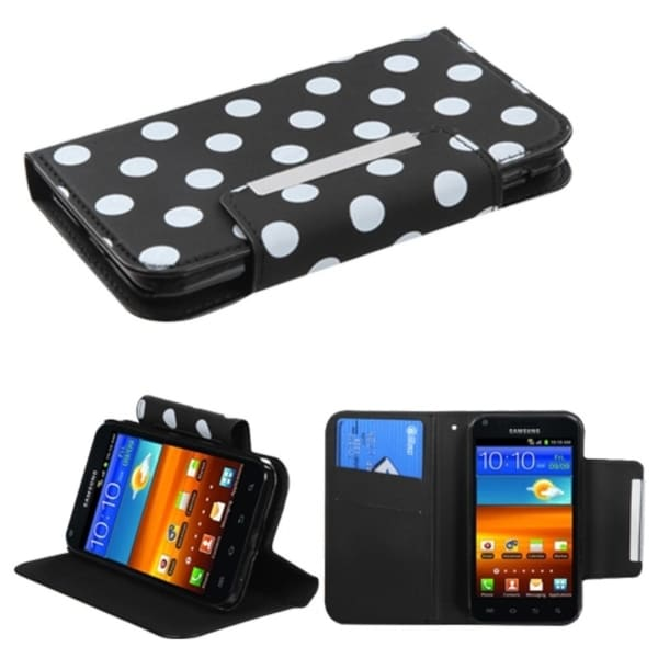 INSTEN White Dots/ Black Phone Case Cover for Samsung Epic 4G Touch D710
