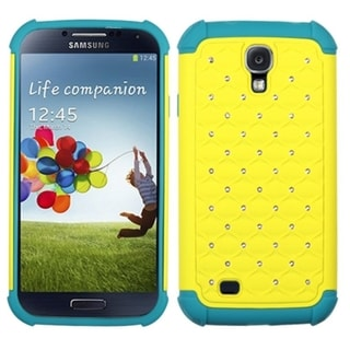 BasAcc Yellow/ Tropical Teal Lattice Case for Samsung Galaxy S4 i9500
