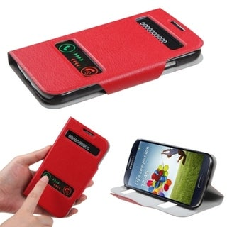 BasAcc Red MyJacket Wallet Case for Samsung Galaxy S4 i9500