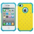BasAcc Yellow/ Tropical Teal Lattice Case for Apple iPhone 4/ 4S