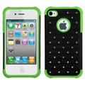 BasAcc Black/ Electric Green Lattice Case for Apple iPhone 4/ 4S