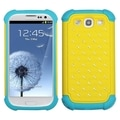 BasAcc Yellow/ Tropical Teal Lattice Case for Samsung Galaxy S3 i9300
