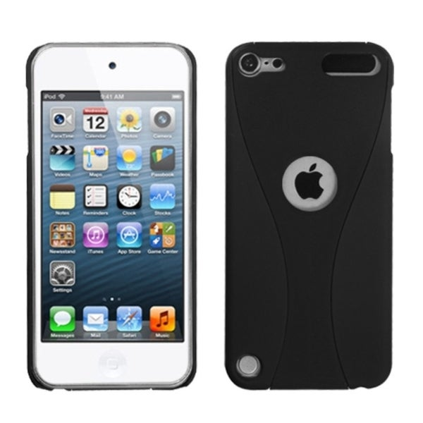INSTEN Black/ Black Wave iPod Case Cover for Apple iPod touch 5