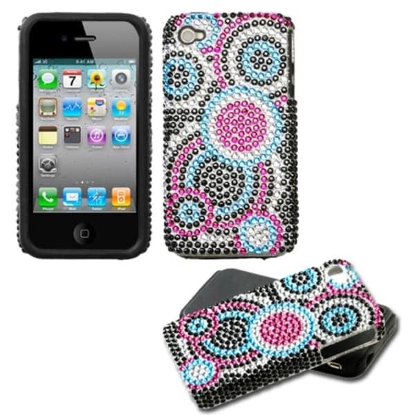 INSTEN Bubble/ Diamante Fusion Phone Case Cover for Apple iPhone 4S/ 4