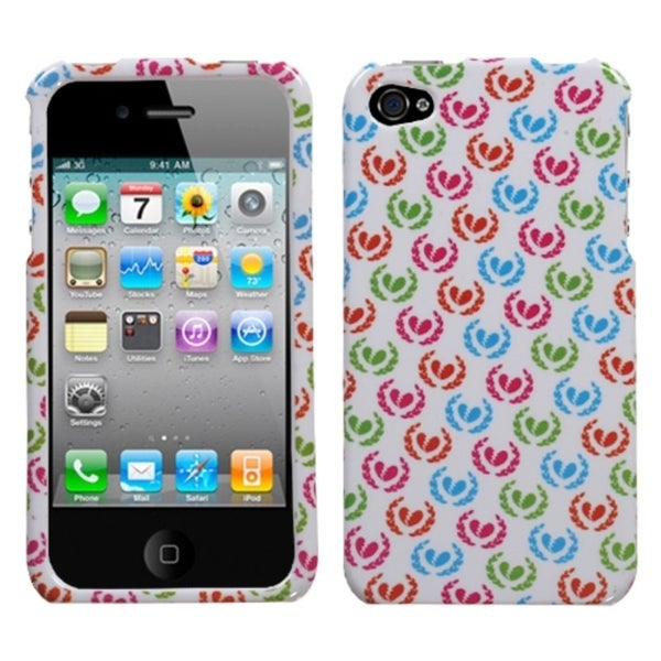 INSTEN Broken Hearts Phone Case Cover for Apple iPhone 4S/ 4