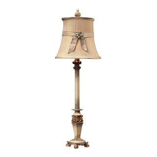 Dimond Lighting 1-light Sussex Stone with Gold-finish Table Lamp