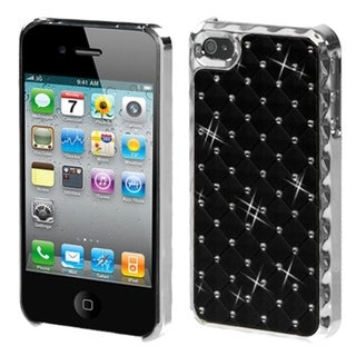 BasAcc Black/ Silver Dazzling/ Diamonds Case for Apple iPhone 4S/ 4