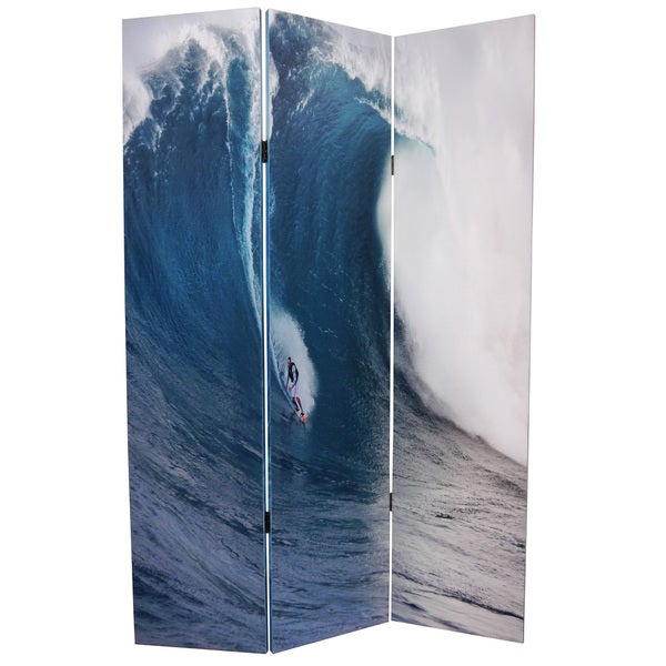 Wave 3-Panel Canvas Screen