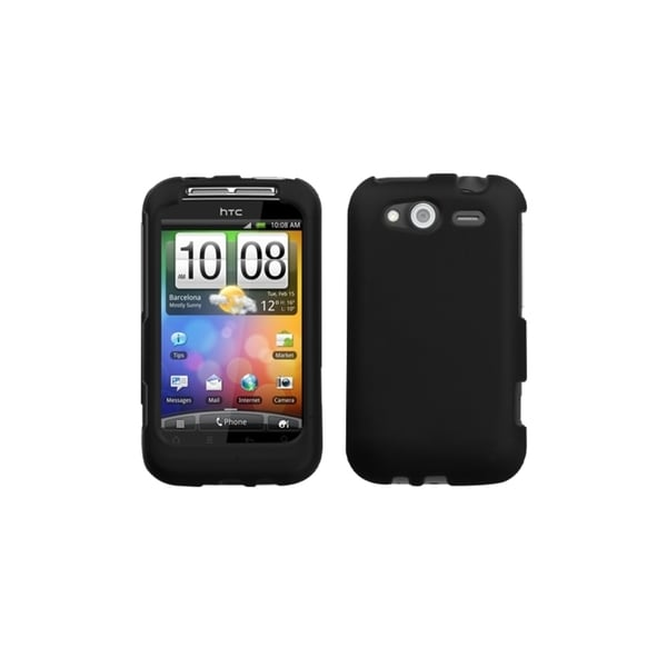 INSTEN Black Phone Case Cover for HTC Wildfire S GSM/ S CDMA