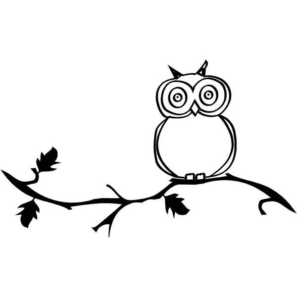 'Owl And Branch' Vinyl Wart Art Lettering