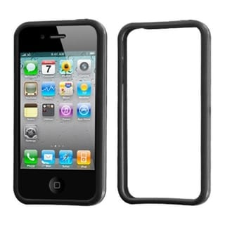 BasAcc Black/ Transparent Clear MyBumper Case for Apple iPhone 4S/ 4