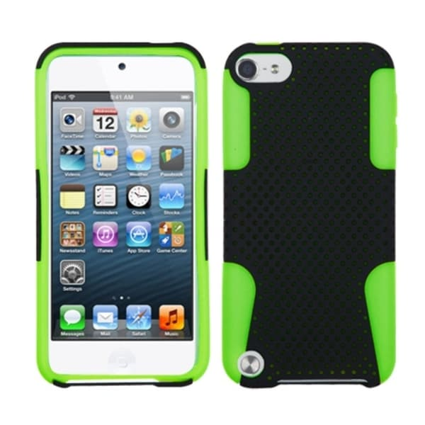 INSTEN Black/ Electric Green/ Astronoot iPod Case Cover for Apple iPod touch 5