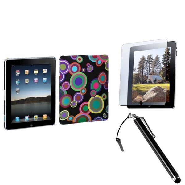 INSTEN Stylus/ Screen Protector/ Back Protector Tablet Case Cover for Apple iPad 1
