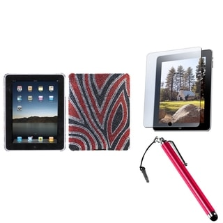 BasAcc Stylus/ Screen Protector/ Diamante Back Case for Apple iPad 1