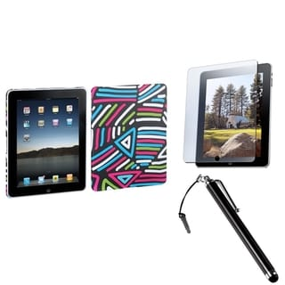BasAcc Stylus/ Screen Protector/ Lizzo Back Case for Apple iPad 1