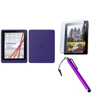 BasAcc Stylus/ Screen Protector/ Solid Skin Case for Apple iPad 1
