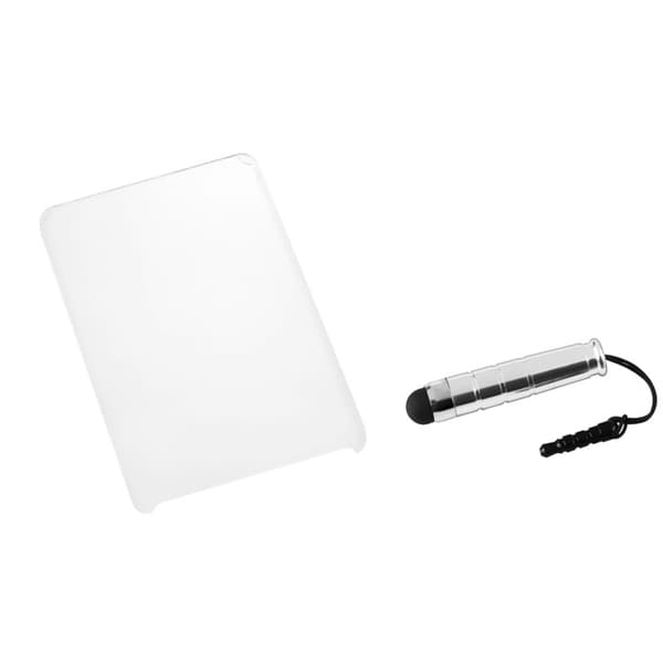 BasAcc T-Clear Case/ Silver Stylus for Amazon Kindle Fire