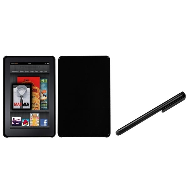 BasAcc Natural Black Case/ Black Stylus for Amazon Kindle Fire