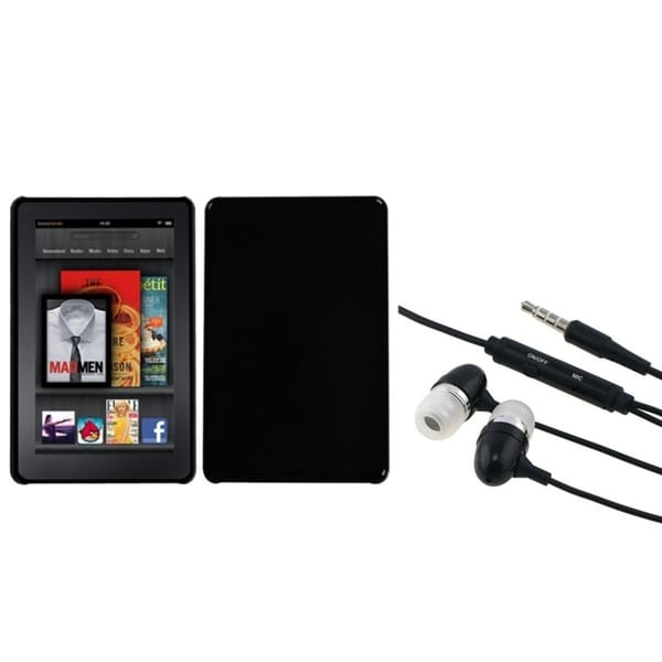 BasAcc Black Case/ Hands-free Headset for Amazon Kindle Fire