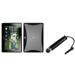 BasAcc T-Clear Black Case/ Black Stylus for Blackberry Playbook