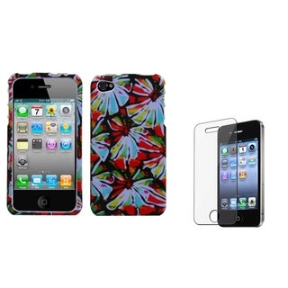 INSTEN Flower Power Phone Case Cover/ Screen Protector for Apple iPhone 4/ 4S