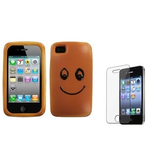 BasAcc Smiling Scone Case/ Screen Protector for Apple iPhone 4/ 4S