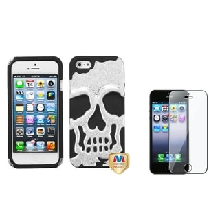 BasAcc Skullcap Case/ Screen Protector for Apple iPhone 5