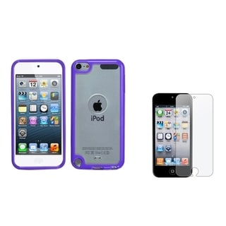 BasAcc Gummy Case/ Anti-glare Screen Protector for Apple iPod Touch 5