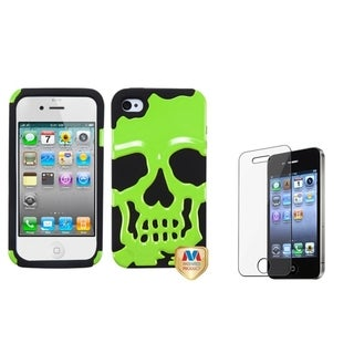 BasAcc Skullcap Hybrid Case/ Screen Protector for Apple iPhone 4/ 4S