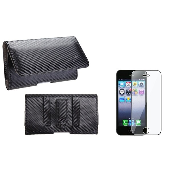 INSTEN Pouch-Style Phone Case Cover/ Screen Protector for Apple iPhone 5/ 5S/ 5C