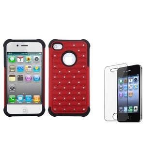 BasAcc TotalDefense Case/ LCD Protector for Apple iPhone 4/ 4S