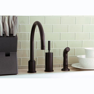 Oil Rubbed Bronze Kitchen Faucet with Side Sprayer