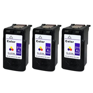 Canon CL-211XL Color High Yield Remanufactured Inkjet Cartridge (Pack of 3)