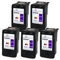 Canon CL-211 Color Remanufactured Inkjet Cartridge (Pack of 5)