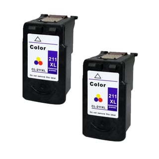Canon CL-211XL Color High Yield Remanufactured Inkjet Cartridge (Pack of 2)